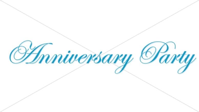 Elegant Blue Anniversary Party wordart