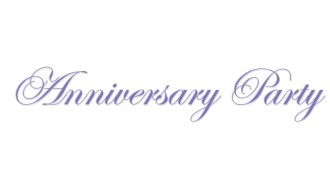 Elegan Purple Anniversary Wordart