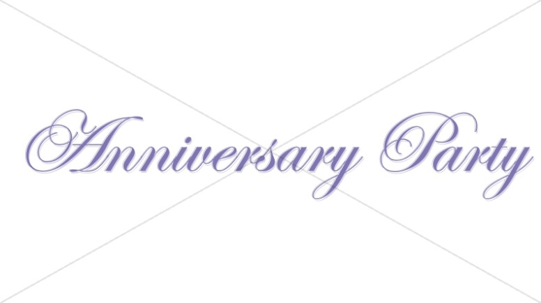 Elegan Purple Anniversary Wordart
