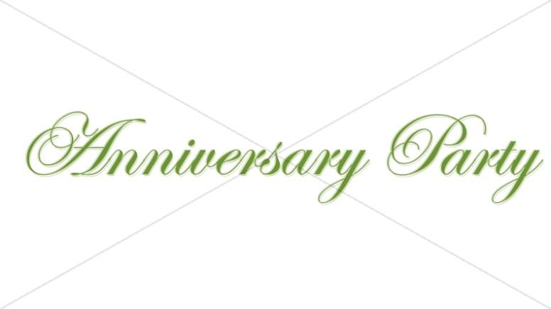 Elegant Green Anniversary Party Wordart