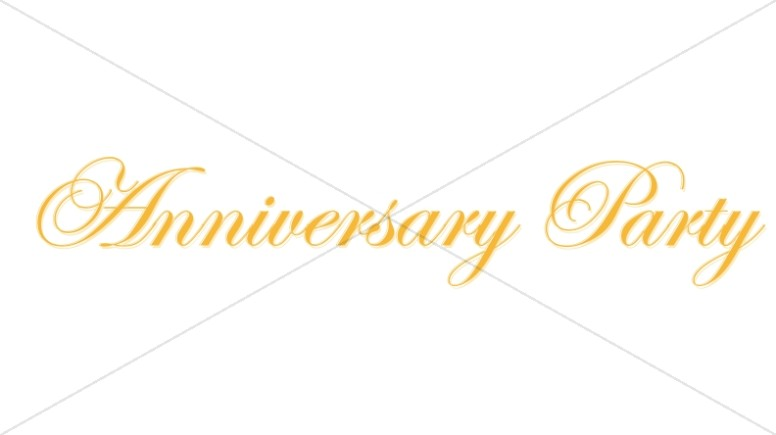 Elegant Golden Anniversary Party Wordart