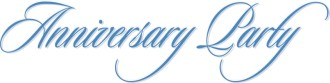 Blue Flowing Anniversary Party Script