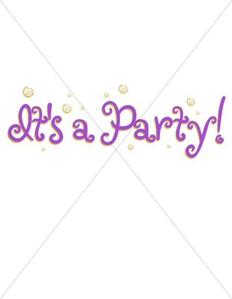 Party Announcement and Confetti
