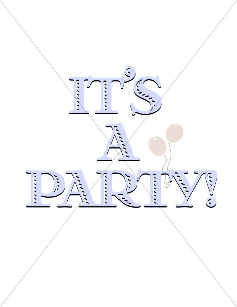 Party Title with Balloons