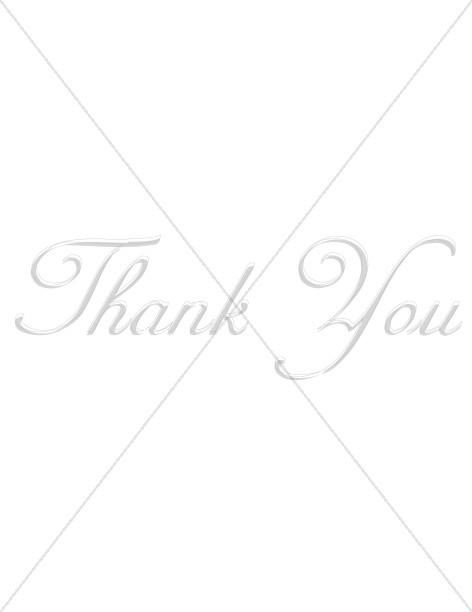 Elegant Gray Thank You