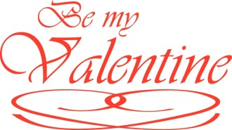 Red Be My Valentine with Flourish