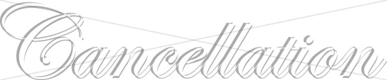 Formal White Cancellatin Script