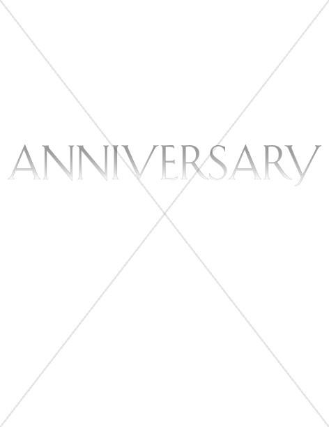 Elegant Faded Word Anniversary