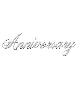 Anniversary Script with Shadow effect