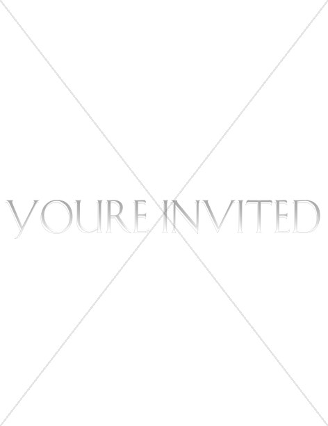 Fade Away Coloring Invitation