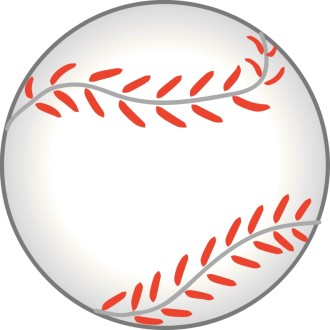 Baseball with Red Stitching