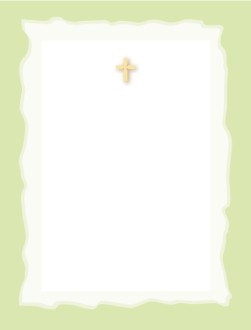 Cross and Wavy Border
