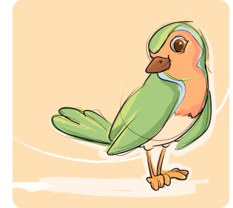 Green and Orange Songbird