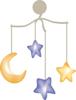 Moon and Stars Baby Mobile