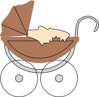 Brown Baby Buggy