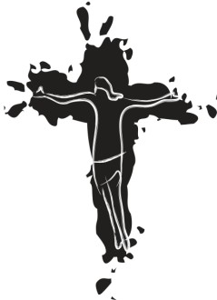Abstract Jesus on Cross