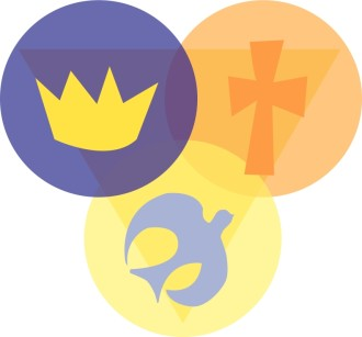 Trinity with Crown, Cross, and Dove