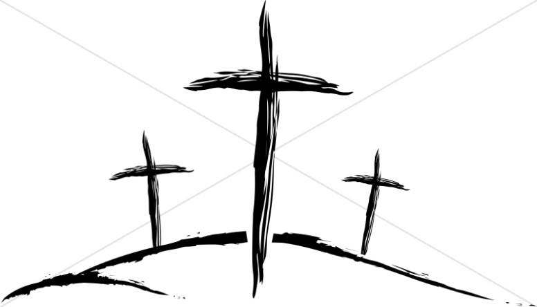 Three Sketched Crosses