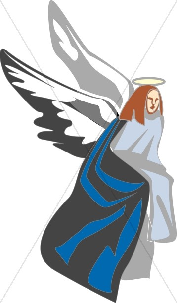 Angel with Wings Clipart