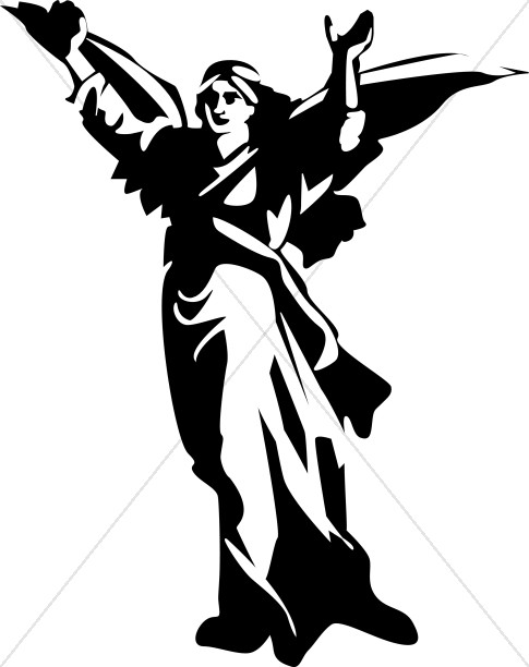 Strong Angel Clipart