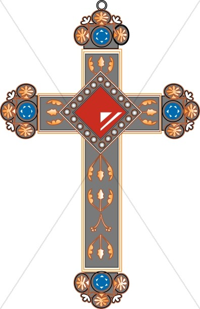 Elaborate Jeweled Cross