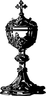 Black Roman Catholic Covered Chalice