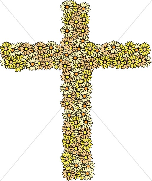 Cross of Yellow Daisies
