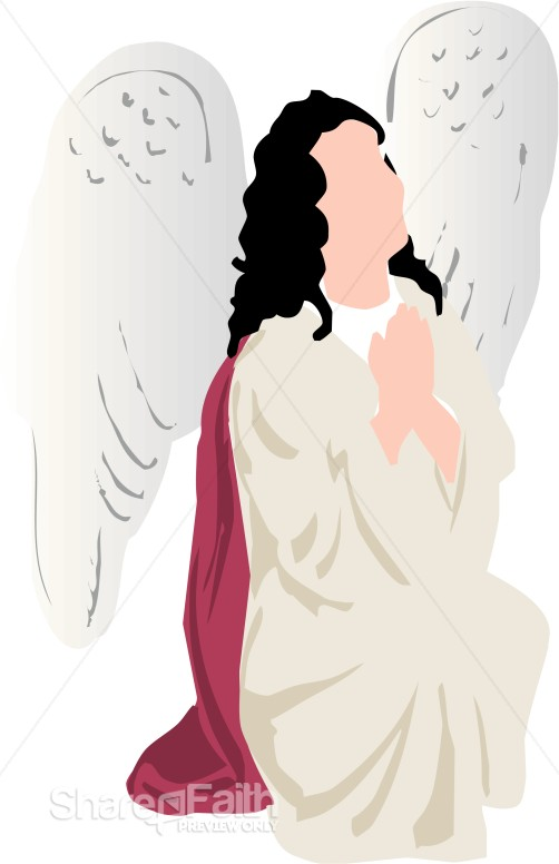 Angel Prayer Clipart