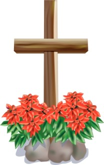 The Cross And Flowers