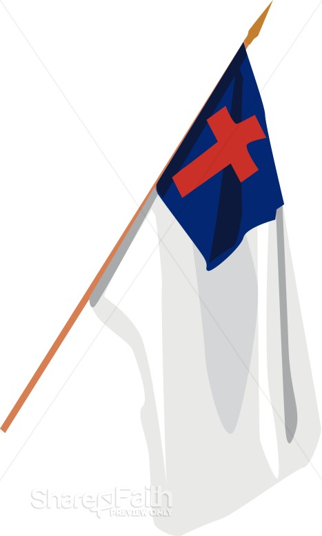 hanging christian flag