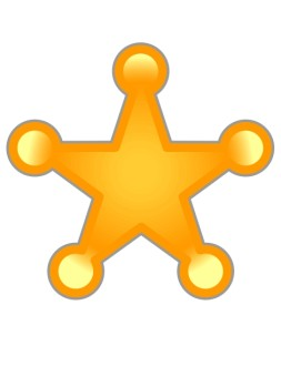 Gold Sheriff's Star