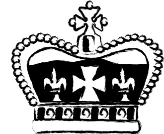 Crown with Maltese Cross