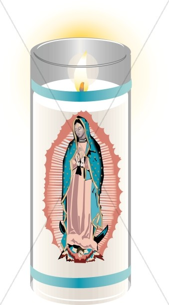 Votive Virgin Mary Candle