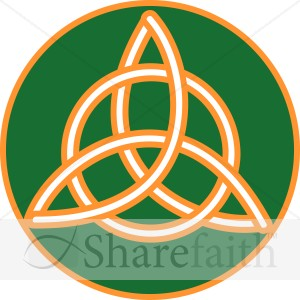 Gold Trimmed Celtic Trinity Knot