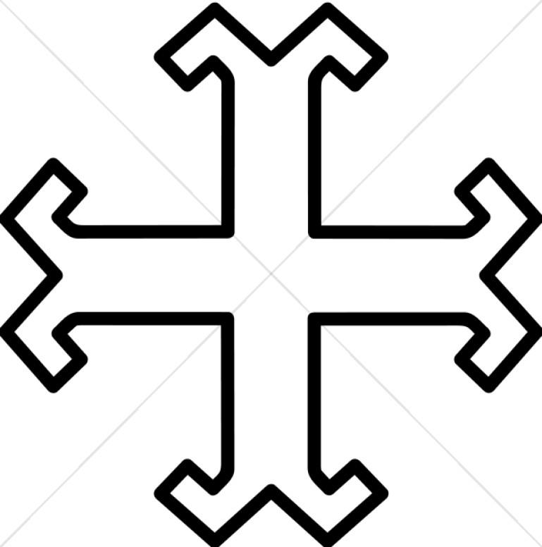 Milrine Cross Outline