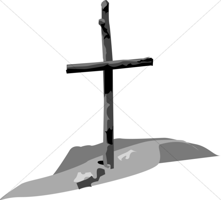 Shades of Gray Wooden Cross