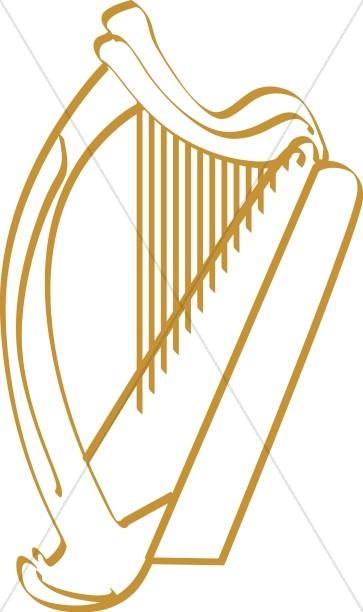 Harp Line Art