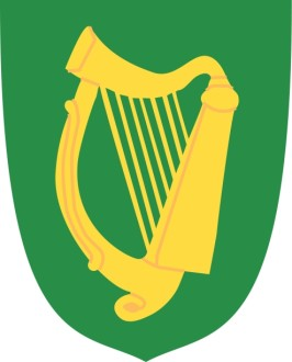 Gold Harp on Green Shield
