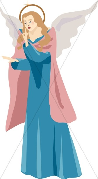 Clipart of Female Angel