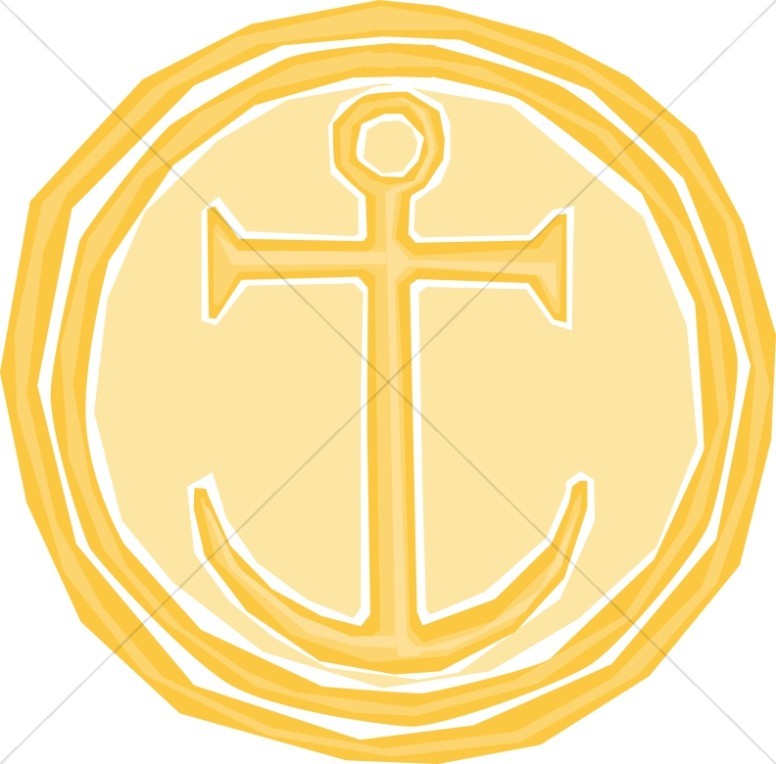 Gold Cross as Anchor