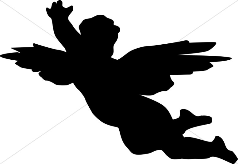 Cherub Clipart Black and White