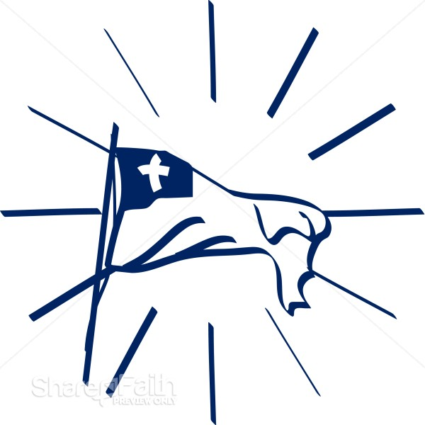 Shining Flag with Cross