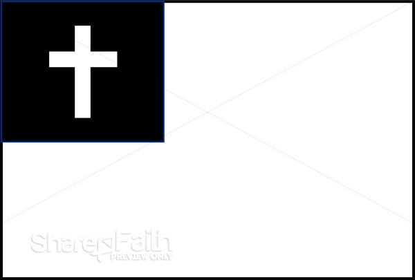 Black and White Christian Flag