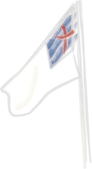 Lightly Sketched Christian Flag on Pole