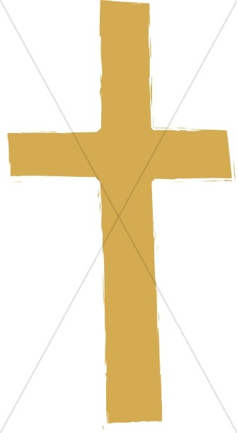 Brown Gold Plain Cross