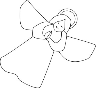 Outline of Angel Clipart