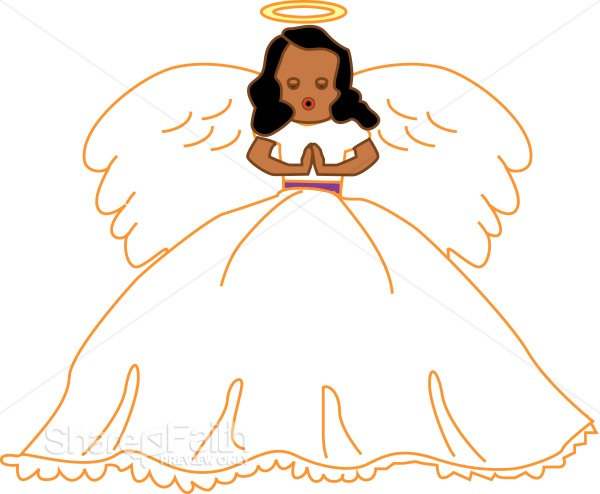 Angel Singing Clipart