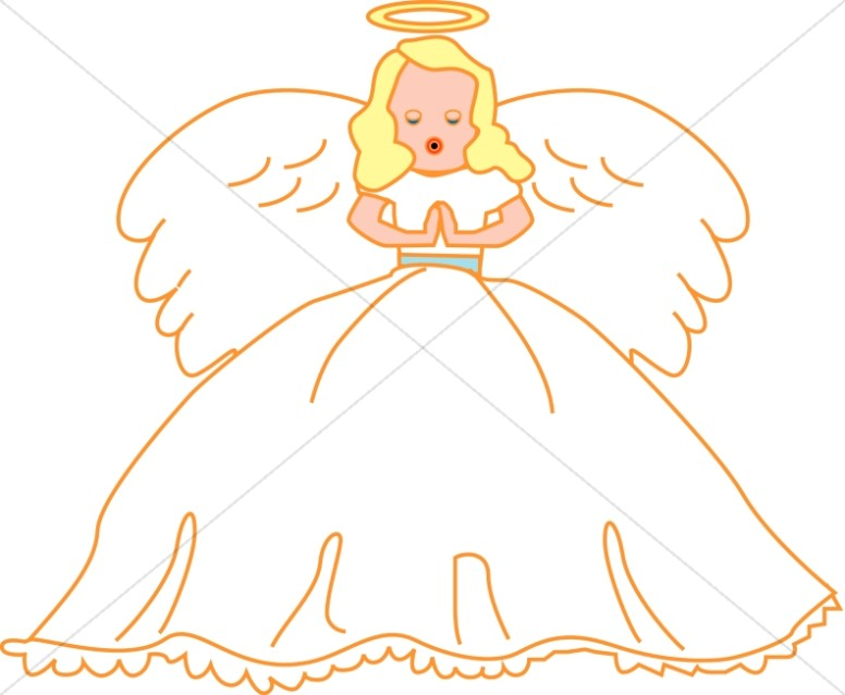 Child Angel with Wings
