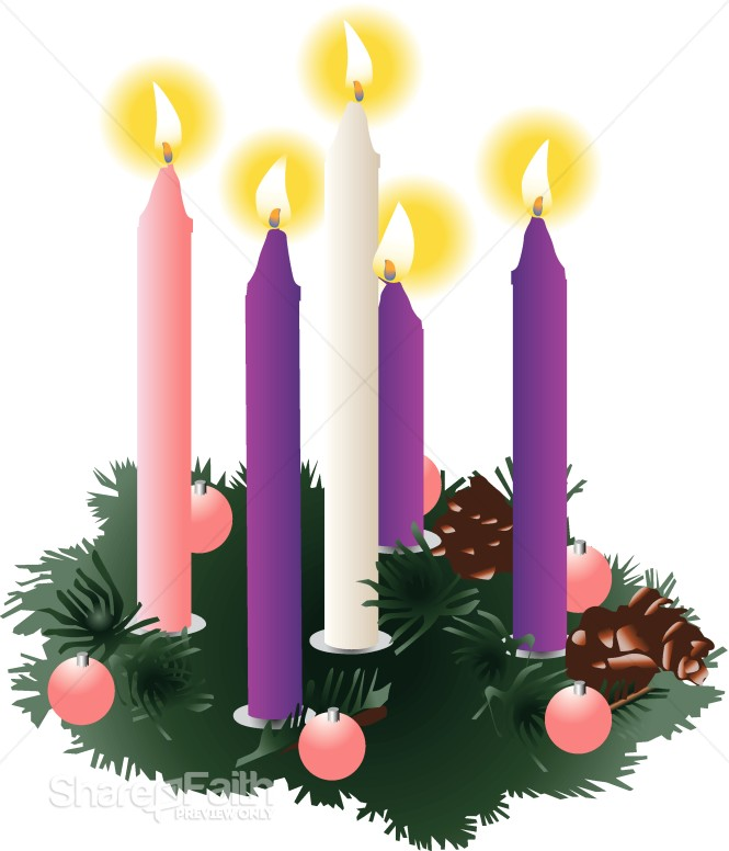 christmas clipart christmas candles advent clipart. Black Bedroom Furniture Sets. Home Design Ideas