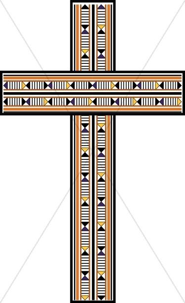 Contemporary Wood Inlay Cross